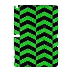 Chevron2 Black Marble & Green Colored Pencil Galaxy Note 1