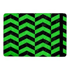 Chevron2 Black Marble & Green Colored Pencil Samsung Galaxy Tab Pro 10 1  Flip Case