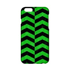 Chevron2 Black Marble & Green Colored Pencil Apple Iphone 6/6s Hardshell Case