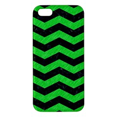 Chevron3 Black Marble & Green Colored Pencil Apple Iphone 5 Premium Hardshell Case