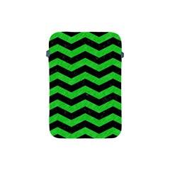 Chevron3 Black Marble & Green Colored Pencil Apple Ipad Mini Protective Soft Cases