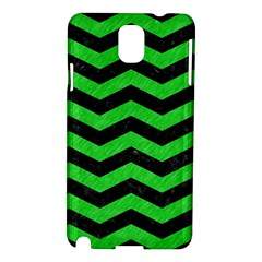 Chevron3 Black Marble & Green Colored Pencil Samsung Galaxy Note 3 N9005 Hardshell Case