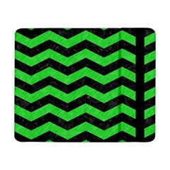 Chevron3 Black Marble & Green Colored Pencil Samsung Galaxy Tab Pro 8 4  Flip Case