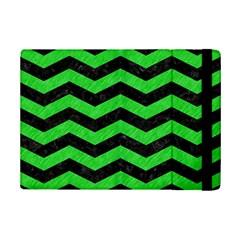 Chevron3 Black Marble & Green Colored Pencil Ipad Mini 2 Flip Cases
