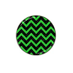 Chevron9 Black Marble & Green Colored Pencil Hat Clip Ball Marker (10 Pack)