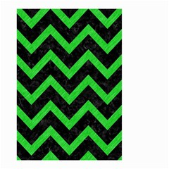 Chevron9 Black Marble & Green Colored Pencil Small Garden Flag (two Sides)