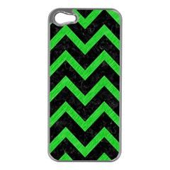Chevron9 Black Marble & Green Colored Pencil Apple Iphone 5 Case (silver)