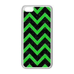 Chevron9 Black Marble & Green Colored Pencil Apple Iphone 5c Seamless Case (white)