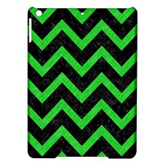 Chevron9 Black Marble & Green Colored Pencil Ipad Air Hardshell Cases