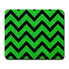 Chevron9 Black Marble & Green Colored Pencil (r) Large Mousepads