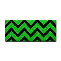 Chevron9 Black Marble & Green Colored Pencil (r) Cosmetic Storage Cases
