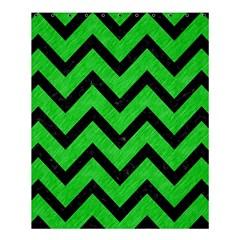 Chevron9 Black Marble & Green Colored Pencil (r) Shower Curtain 60  X 72  (medium)
