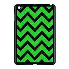 Chevron9 Black Marble & Green Colored Pencil (r) Apple Ipad Mini Case (black)