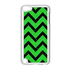 Chevron9 Black Marble & Green Colored Pencil (r) Apple Ipod Touch 5 Case (white)