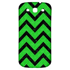 Chevron9 Black Marble & Green Colored Pencil (r) Samsung Galaxy S3 S Iii Classic Hardshell Back Case