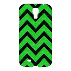 Chevron9 Black Marble & Green Colored Pencil (r) Samsung Galaxy S4 I9500/i9505 Hardshell Case