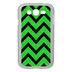 Chevron9 Black Marble & Green Colored Pencil (r) Samsung Galaxy Grand Duos I9082 Case (white)