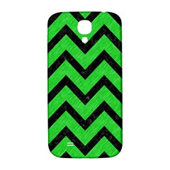 Chevron9 Black Marble & Green Colored Pencil (r) Samsung Galaxy S4 I9500/i9505  Hardshell Back Case