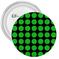 Circles1 Black Marble & Green Colored Pencil 3  Buttons