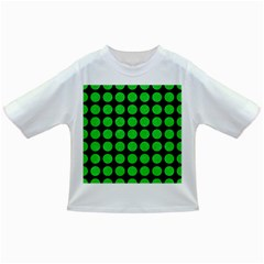 Circles1 Black Marble & Green Colored Pencil Infant/toddler T Shirts