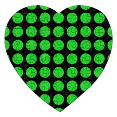 Circles1 Black Marble & Green Colored Pencil Jigsaw Puzzle (heart)