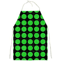 Circles1 Black Marble & Green Colored Pencil Full Print Aprons