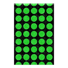 Circles1 Black Marble & Green Colored Pencil Shower Curtain 48  X 72  (small)