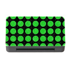 Circles1 Black Marble & Green Colored Pencil Memory Card Reader With Cf