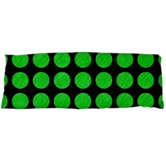 Circles1 Black Marble & Green Colored Pencil Body Pillow Case Dakimakura (two Sides)