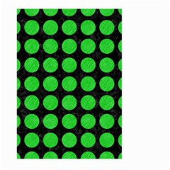 Circles1 Black Marble & Green Colored Pencil Large Garden Flag (two Sides)