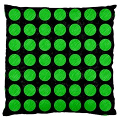 Circles1 Black Marble & Green Colored Pencil Large Cushion Case (one Side)