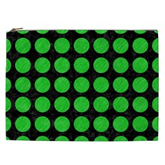 Circles1 Black Marble & Green Colored Pencil Cosmetic Bag (xxl)