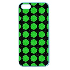 Circles1 Black Marble & Green Colored Pencil Apple Seamless Iphone 5 Case (color)