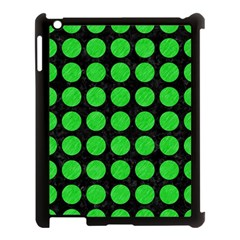 Circles1 Black Marble & Green Colored Pencil Apple Ipad 3/4 Case (black)