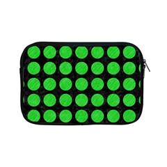 Circles1 Black Marble & Green Colored Pencil Apple Ipad Mini Zipper Cases