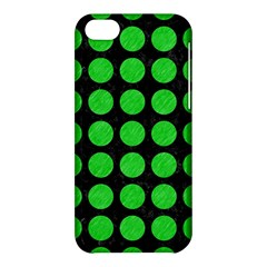 Circles1 Black Marble & Green Colored Pencil Apple Iphone 5c Hardshell Case