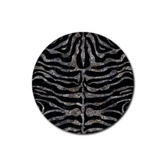 Skin2 Black Marble & Gray Stone Rubber Round Coaster (4 Pack)