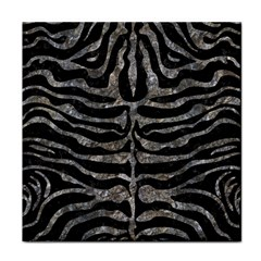 Skin2 Black Marble & Gray Stone Face Towel