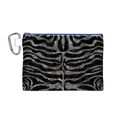 Skin2 Black Marble & Gray Stone Canvas Cosmetic Bag (m)
