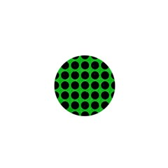 Circles1 Black Marble & Green Colored Pencil (r) 1  Mini Buttons