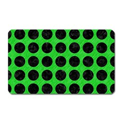 Circles1 Black Marble & Green Colored Pencil (r) Magnet (rectangular)
