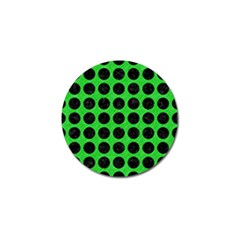 Circles1 Black Marble & Green Colored Pencil (r) Golf Ball Marker (10 Pack)