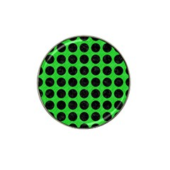 Circles1 Black Marble & Green Colored Pencil (r) Hat Clip Ball Marker