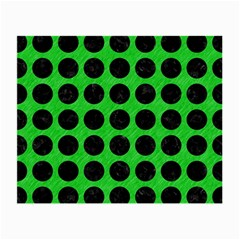 Circles1 Black Marble & Green Colored Pencil (r) Small Glasses Cloth