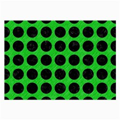 Circles1 Black Marble & Green Colored Pencil (r) Large Glasses Cloth (2 Side)