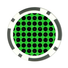 Circles1 Black Marble & Green Colored Pencil (r) Poker Chip Card Guard (10 Pack)