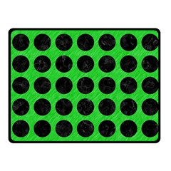 Circles1 Black Marble & Green Colored Pencil (r) Fleece Blanket (small)