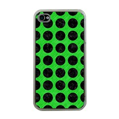 Circles1 Black Marble & Green Colored Pencil (r) Apple Iphone 4 Case (clear)