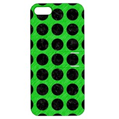Circles1 Black Marble & Green Colored Pencil (r) Apple Iphone 5 Hardshell Case With Stand