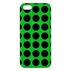 Circles1 Black Marble & Green Colored Pencil (r) Iphone 5s/ Se Premium Hardshell Case